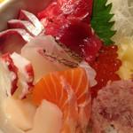 どったんば - 鮮魚の豪海丼のアップ