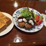 六曜舎 - ミートコロッケセット  ¥730-