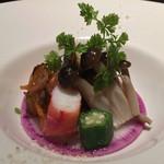 舞桜 - 鮑とタラバガニの前菜