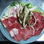 味由貴壮 - すき焼き(飛騨牛と松茸)