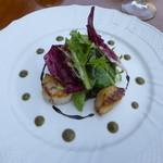 ラ・ネネグース - 前菜 帆立貝のポワレ香草ソース(2014年9月27日ランチ訪問)