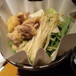 炉囲土 - 鶏の紙鍋
