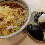 吉そば - 肉そばセット(トッピング:たぬき)