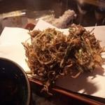 正栄丸 - 生もずくの天ぷら420円