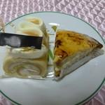 リンゴ カフェ - 今回購入したケーキ2種
