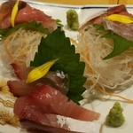 博多赤虎 - 九州直送!鮮魚のお造り三種