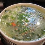 ホルモン屋 よんちゃん - わかめスープ
