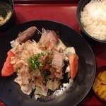 ジョイフル - 豚バラとキャベツのポン酢かけ定食