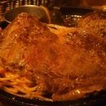 STEAK&HUMBURG ひげ - 荒挽きハンバーグ&牛ロースステーキ400g(牛ロースステーキ)