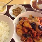 中国広東料理 聚宝 - 沙茶醤(サーチャジャン)炒め