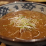 伝丸 - 伝丸 百万遍店の濃厚魚介つけ麺のつけ汁(14.11)