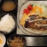 マル蔵 - とんぺい焼き定食 ¥800(税込)
