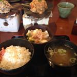Hidaizakayakurasuke - ランチ 朴葉味噌焼き