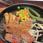 焼肉の鷹 - ビーフカットステーキ国産牛(思わず食べちゃいました)