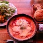 ゴンノ ベーカリー マーケット - gonno bakery market @中葛西 ラザニアセット 1,200円(税抜)