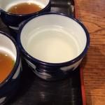 つるきそば - 蕎麦湯