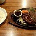 けん - Wプレミアムけんステーキ、ミディアム、淡路島産オニオンソース