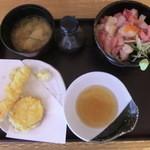 魚彦 - 海鮮丼と海老天