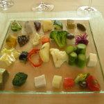 銀座 シェ・トモ - 野菜のプレート