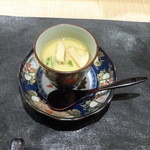 32612971 - 五品のご提案(3,000円)その一、松茸と胡麻豆腐の茶碗蒸し