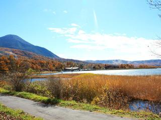 レストラン ル・プラトー - 女神湖と蓼科山
