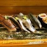 鮨大前 - 2014.11 鯵、鰯、秋刀魚、小肌、鯖の巻物