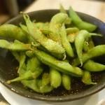 沼津フィッシュマーケットタップルーム - (2014/9月)「スタウト蒸し枝豆」