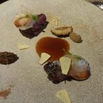 Sola - 鳩の胸肉、セップ茸、アーモンド、エシャレット、キノコ