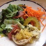 messo - 前菜野菜モリモリ、カレー風味のゴーヤピクルスが特に気に入りました