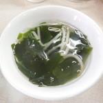みーとん - わかめ中華スープ
