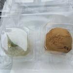 32623033 - だだちゃ餅(値段失念)&わらびまんじゅう(170円)