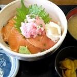 32624909 - サーモンネギトロ丼