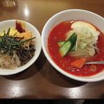 32625533 - Aセット(冷麺・小ビビンバ)1130円