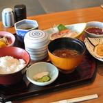 荒磯 - 料理写真:荒磯・昼のお膳天婦羅付\1350(2014.09)