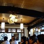 祖谷そば 初代仙吉 - 休日の昼時とあって、結構な人の入りだったよ。