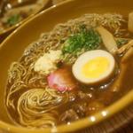 ミカサノ食堂 - ミカサノセット(鶏もつラーメン、鶏めし