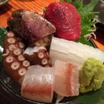 旬魚季菜 とと桜 - 刺盛小(5種盛)1280円