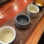 旬魚季菜 とと桜 - 左から、天狗舞、宗玄、菊姫