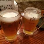 旬魚季菜 とと桜 - エビス生!550円