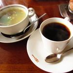キー - スープ、コーヒー