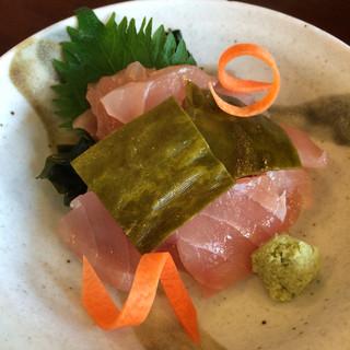 厚生食堂 - サワラ昆布〆 700円