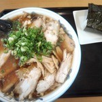 味よし - チャーシュー麺大盛り900円+むすび100円