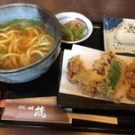 うどん酒房梵 - とり天うどん定食750円(税込)