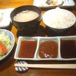 レストラン樹 - ディナーセット:ご飯・味噌汁・サラダ