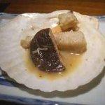 レストラン樹 - ディナーコース:帆立貝のバター焼き