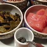 やまや - 食べ放題の高菜と明太子