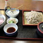 海老名 - 料理写真:十割そば200gとミニ海鮮丼のセット