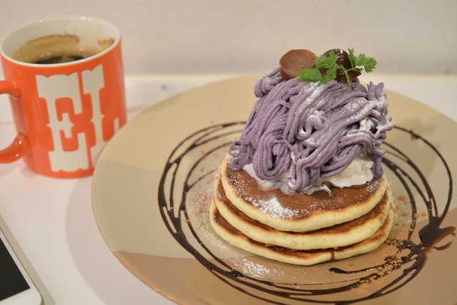 elk 京都河原町店 - 2014/11 紫芋と和栗のモンブラン(コーヒーorティー付) 1,280円