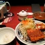 とんかつ 濵かつ - ロースカツ定食+オランダカツ税込1501円♪