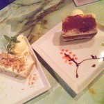 steps - チーズケーキとティラミス